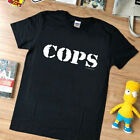 Vtg rare - T shirt - COPS tv show '90s 1992 - top black reprint limmited edition image