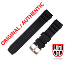 Original Luminox Watch Band 22mm 3000 3100 3200 3400 3600 8400 8800 BLACK SILVER