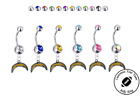 Los Angeles Chargers Silver Belly Button Navel Ring - Customize Gem Color - NEW $9.99 USD on eBay