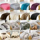 Super Soft Mink Faux Fur Throw Blanket for Bed Sofa (Single, Double & King size)