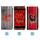 Calgary Flames Leather 16 Slot Wallet Card ID Holder Purse $13.99 USD on eBay