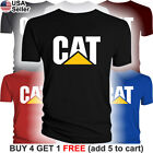 Caterpillar T-Shirt CAT Logo Tractor Equipment Men Bulldozer Construction BLD