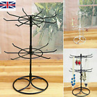 2 Tiers Metal Jewelry Display Rack Rotating Stands For Jewelry Necklace Keyring