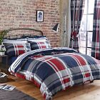 Charlotte Thomas Carson Reversible Duvet Set or Curtains in Red White & Blue