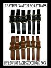 WATCH FOB STRAPS MIX N MATCH SIZE & COLORS NEW! LEATHER. image