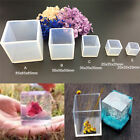 Cube Squares Silicones Molds Resin Gift Making Mould Epoxy Pendant Craft Tools