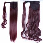 Clip In Ponytail Hair Extensions Straight Wrap on Pony Tail Blonde as human kccr