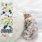 New 2Pcs/Set Newborn Swaddle Blanket Baby Cocoon Sleeping Bag Muslin Wrap Hat