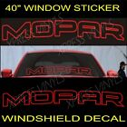 MOPAR SPELL OUT DODGE Graphic Windshield Vinyl Decal Sticker Vehicle Logo 40'' $11.99 USD on eBay