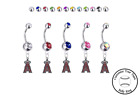 Los Angeles Angels Silver Belly Button Navel Ring - Customize Gem Color - NEW on Ebay