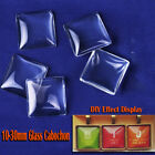 Mixed Lot New Fashion Blanks Square Glass Dome Cabochon for Tray Setting Pendant