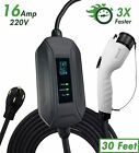 EVSE Level 2 Electric Vehicle Charger EV Charger 220Volt 30, 40, and 50 Feet
