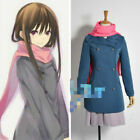 Anime Noragami Stray God Hiyori Iki Sailor Suit Uniform Cosplay Full set +scarf