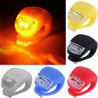 2Pcs Silicone Bicycle Bike Cycle Safety LED Head Front & Rear Tail Light Set PL