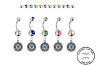 Seattle Mariners Silver Belly Button Navel Ring - Customize Gem Color - NEW on Ebay