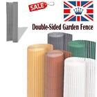 Garden Screening Fence Panel Privacy Screen Double-Sided Patio Outdoor Multi UK