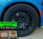 Dodge Charger and Challenger Hash Center Cap Overlay Decals 2017 2018 2019