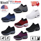 Women Sport Air Cushion Sneakers Breathable Mesh Walking Slip-On Running Shoes O