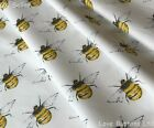 Rose & Hubble 100% cotton Bumble Bee fabric half/full mtrs & FQ