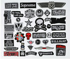 Black Badges Embroidered Iron on Patch Cool Emblems Rock Punk DIY Hat Bag Crafts $0.99 USD on eBay