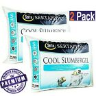 Queen Size Bed Pillows Foam Cool Gel Hypoallergenic Comfort Sleep Set Of 2 Hotel image