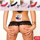 Womens Thongs Sexy-Lingerie Panties Lace And Pearl G Strings Micro Thong Panty