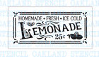 Lemonade STENCIL for Painting Wood Signs Summer Walls Canvas Fabric Reusable