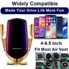 R1 Qi Wireless Car Charger Auto Sensor Vent Mount Phone Holder iPhone 11 Pro Max