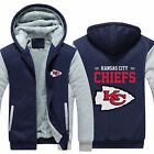Kansas City Chiefs Fans Hoodie Fleece zip up Coat winter Jacket warm Sweatshirt $38.88 USD on eBay