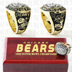 1985 Chicago Bears Super Bowl World Championship Rings Perry 1 PK Boxed Brass