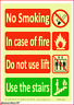 More images of Glow In The Dark Luminescent Lift / Elevator Safety Signs Sticker In Case Of Fire