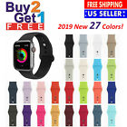 Silicone Sport Strap Watch Band for Apple Watch Series 4 3 2 1 38/40mm 42/44mm image
