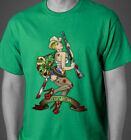 Classic Horror Sexy Zombie Pinup Graphic T-Shirt - Rockabilly Lowbrow Gothic Art