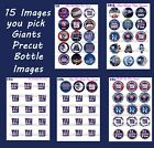 "New York Giants You Pick Sheet of  15-1"" Precut Bottle Cap Images bows Jewelry $2.59 USD on eBay"