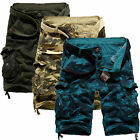 Men Multi Pockets Camouflage Summer Army Combat Work Cargo Shorts Pants Trousers