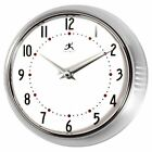 Infinity Instruments Retro 9.5-Inch Wall Clock