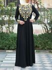 Womens Dresses Muslim Abaya Golden Print Long Dress Islamic Djellaba Plus Size <br/> USA warehouse**3-7days Delivery**Free Shipping