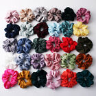 Kyпить Soft Silky Satin Solid Hair Scrunchies Elastic Hair Bands Ponytail Hair Tie Rope на еВаy.соm