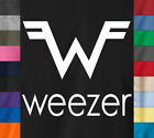 WEEZER Logo T-Shirt Alternative Rock Band Concert Skate Punk Ringspun Cotton Tee image