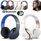 wireless headphones bluetooth headset noise cancelling over ear w microphone ca