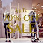 2 x Up To 70% OFF SALE Shop Window Sign Retail Display Decal Vinyl Stickers 5536