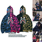 Lovers Bathing Ape Jaw Jacket Camo Full Bape Shark Zipper Hoodie Sweats Coat Hot