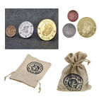 Gringotts Bank Coins & Bag, Harry Potter Hogwarts Wizarding World, Noble Cosplay