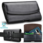 Universal PU Leather Belt Clip Cell Phone Pouch Card Holder RFID Blocking Wallet