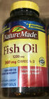 Nature Made Fish Oil 1200 mg (360 mg OMEGA-3) Liquid Softgels - CHOOSE SIZE