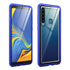 For Sony Xperia 10 Plus Luxury Metal Aluminum Bumper +Tempered Glass Case Cover