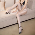 Seamless Women Pantyhose Stocking Oil Glossy Shiny Sheer Tights Crotch/Crotchles