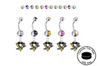 Pittsburgh Penguins Silver Belly Button Navel Ring - Customize Gem Color - NEW $12.99 USD on eBay