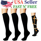 3 Pairs  Compression Socks Knee High 15 20mmhg Graduated Support Men s Women s