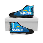 Los Angeles Chargers High Top Shoes Men and Women Canvas Shoes New $52.0 USD on eBay